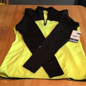 Brooks 1/2 zip high visibility running jacket